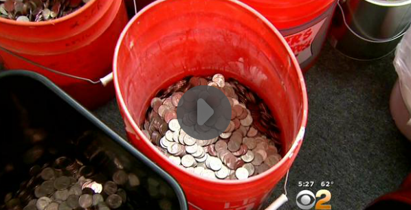 Insurance Company Pays Man $21,000 With Buckets Of LooseChange