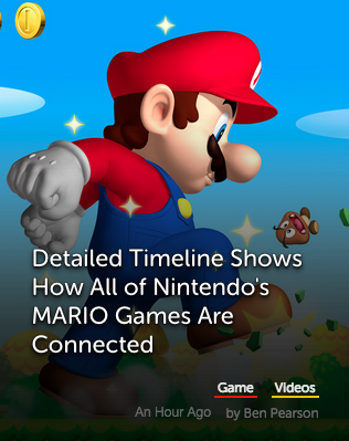 Timeline reveals how Mario games are connected.