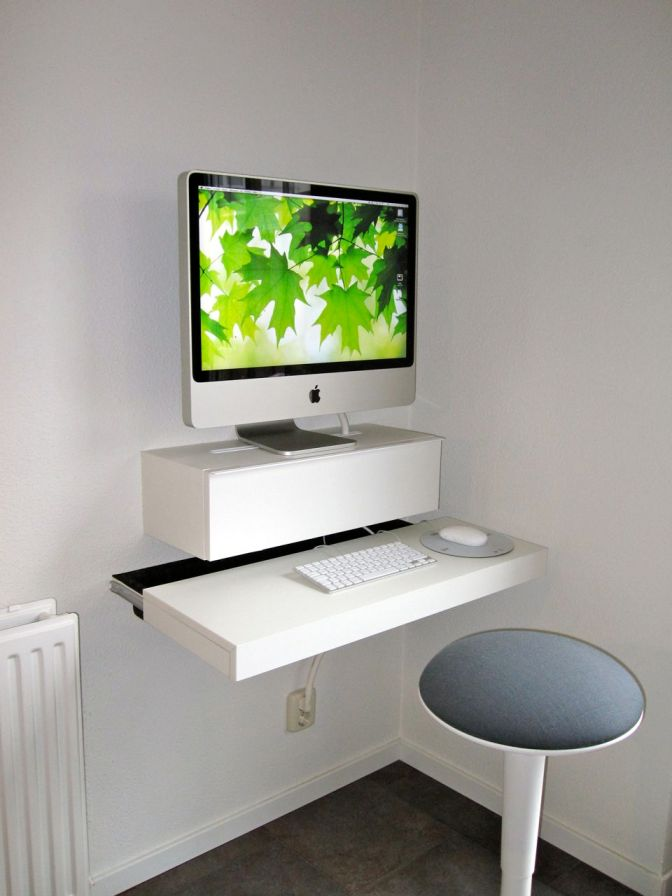 iMac Computer Desk via Hacked Ikea Products