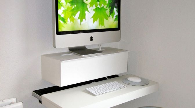 Imac computer desk via hacked ikea products that will be my next tweet